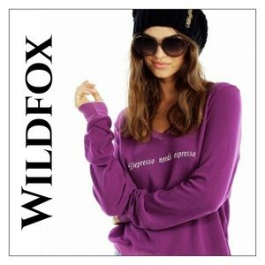 Wildfox Depresso Needs Espresso Baggy Beach Jumper